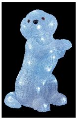 PREMIER LV192062  35Cm Acrylic Dog With 32 White Leds